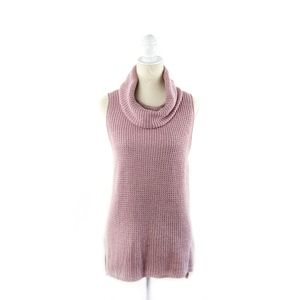 Sonoma Mauve Cowl Neck Sleeveless Sweater L
